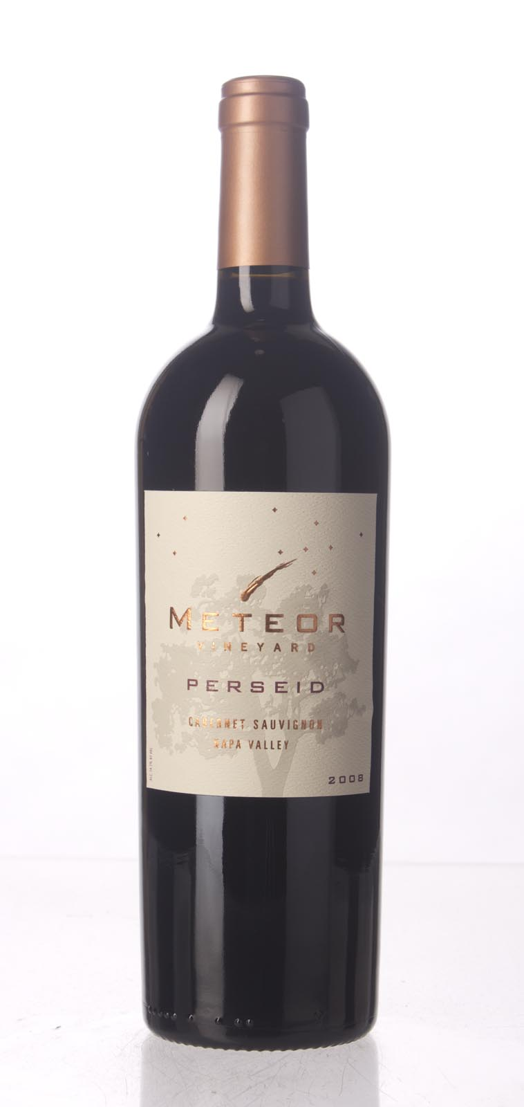 Meteor Vineyard Cabernet Sauvignon Perseid 2008, 750mL (WA92, ST92+, WS91) from The BPW - Merchants of rare and fine wines.