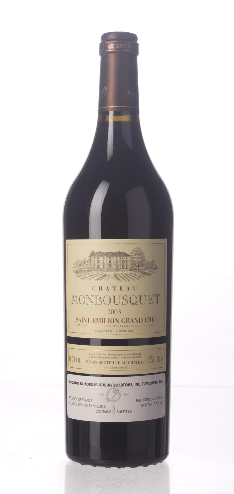 Monbousquet 2003, 750mL (WA93) from The BPW - Merchants of rare and fine wines.