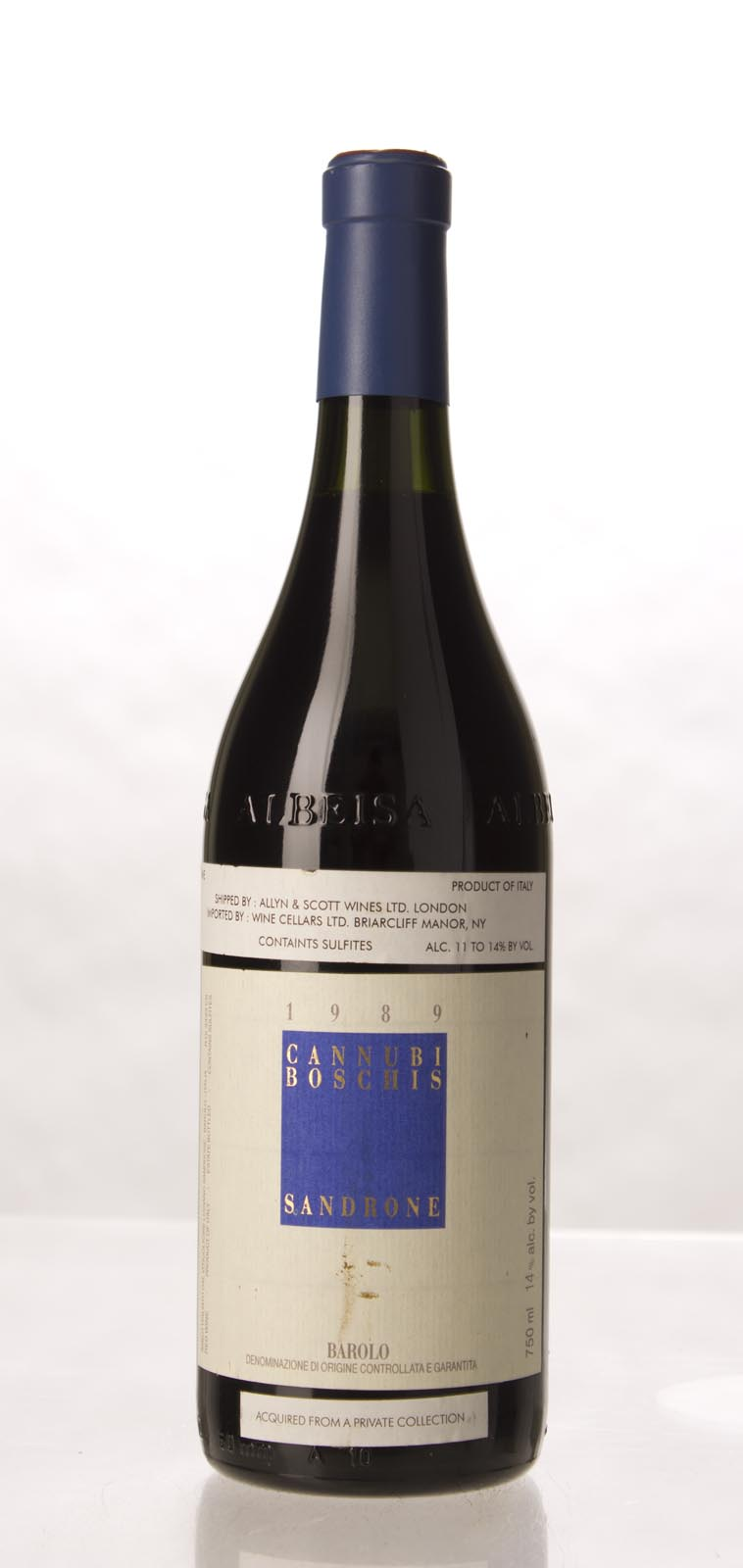 Luciano Sandrone Barolo Cannubi Boschis 1989, 750mL (WA97) from The BPW - Merchants of rare and fine wines.