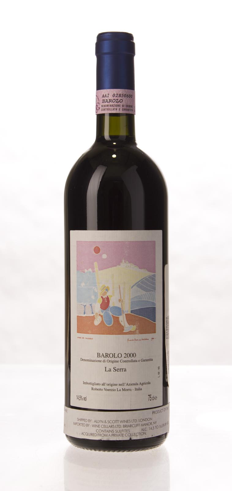 Roberto Voerzio Barolo la Serra 2000, 750mL (WS98) from The BPW - Merchants of rare and fine wines.