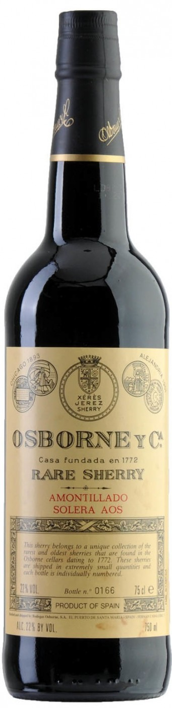 Bodegas Osborne Amontillado Solera AOS (1903) N.V.,  (WA97) from The BPW - Merchants of rare and fine wines.