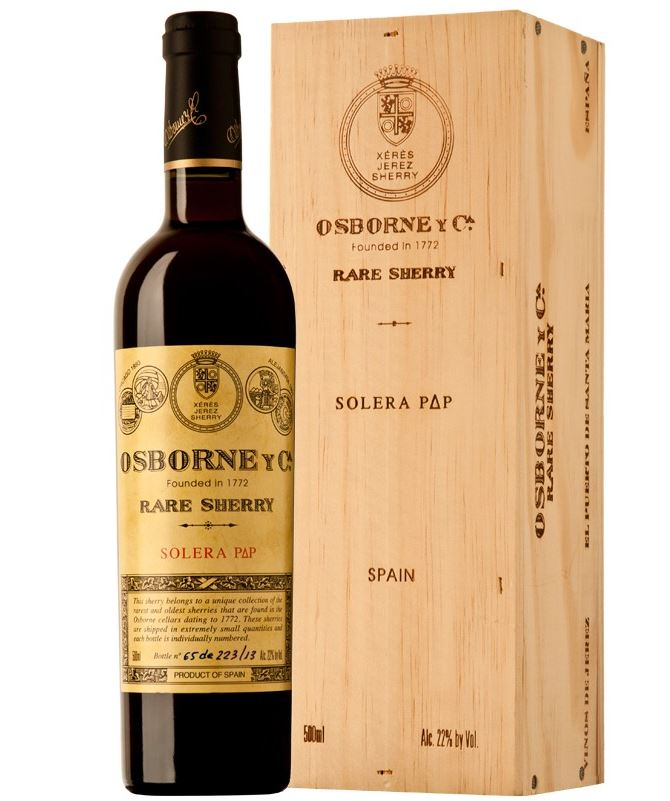 Bodegas Osborne Palo Cortado Solera P delta P (1911) N.V.,  (WA96) from The BPW - Merchants of rare and fine wines.