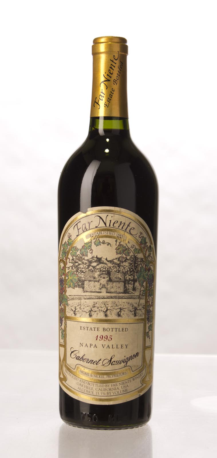 Far Niente Cabernet Sauvignon Napa Valley 1995, 750mL (WS92) from The BPW - Merchants of rare and fine wines.