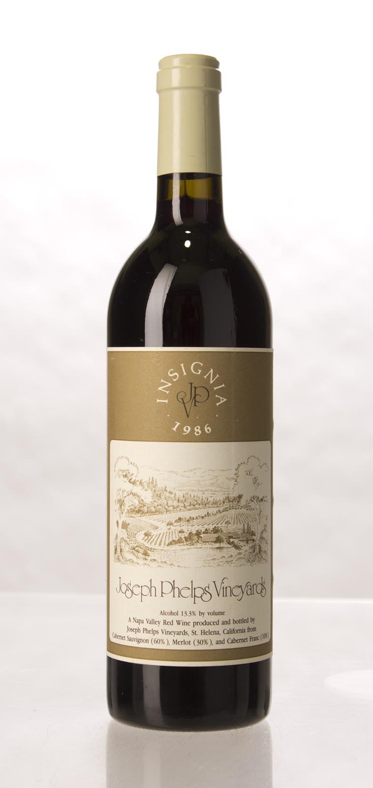 Joseph Phelps Insignia Proprietary Red 1986, 750mL (WS93) from The BPW - Merchants of rare and fine wines.