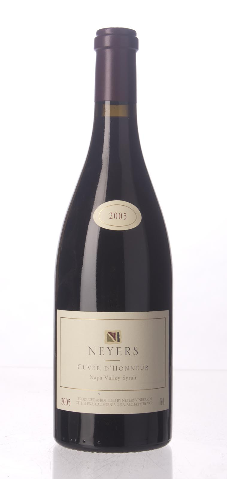 Neyers Syrah Cuvee d`Honneur 2005, 750mL (WA90-92, ST91) from The BPW - Merchants of rare and fine wines.
