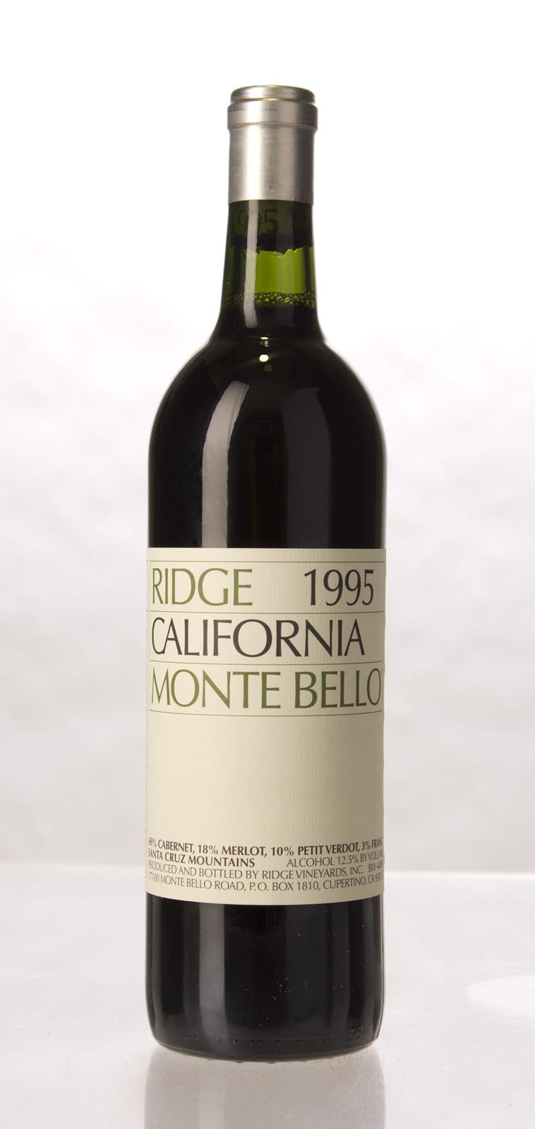Ridge Monte Bello 1995, 750mL (VN97) from The BPW - Merchants of rare and fine wines.