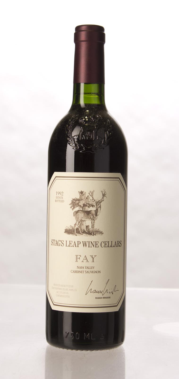 Stag`s Leap Wine Cellars Cabernet Sauvignon Fay Vineyard 1992,  (WA93) from The BPW - Merchants of rare and fine wines.
