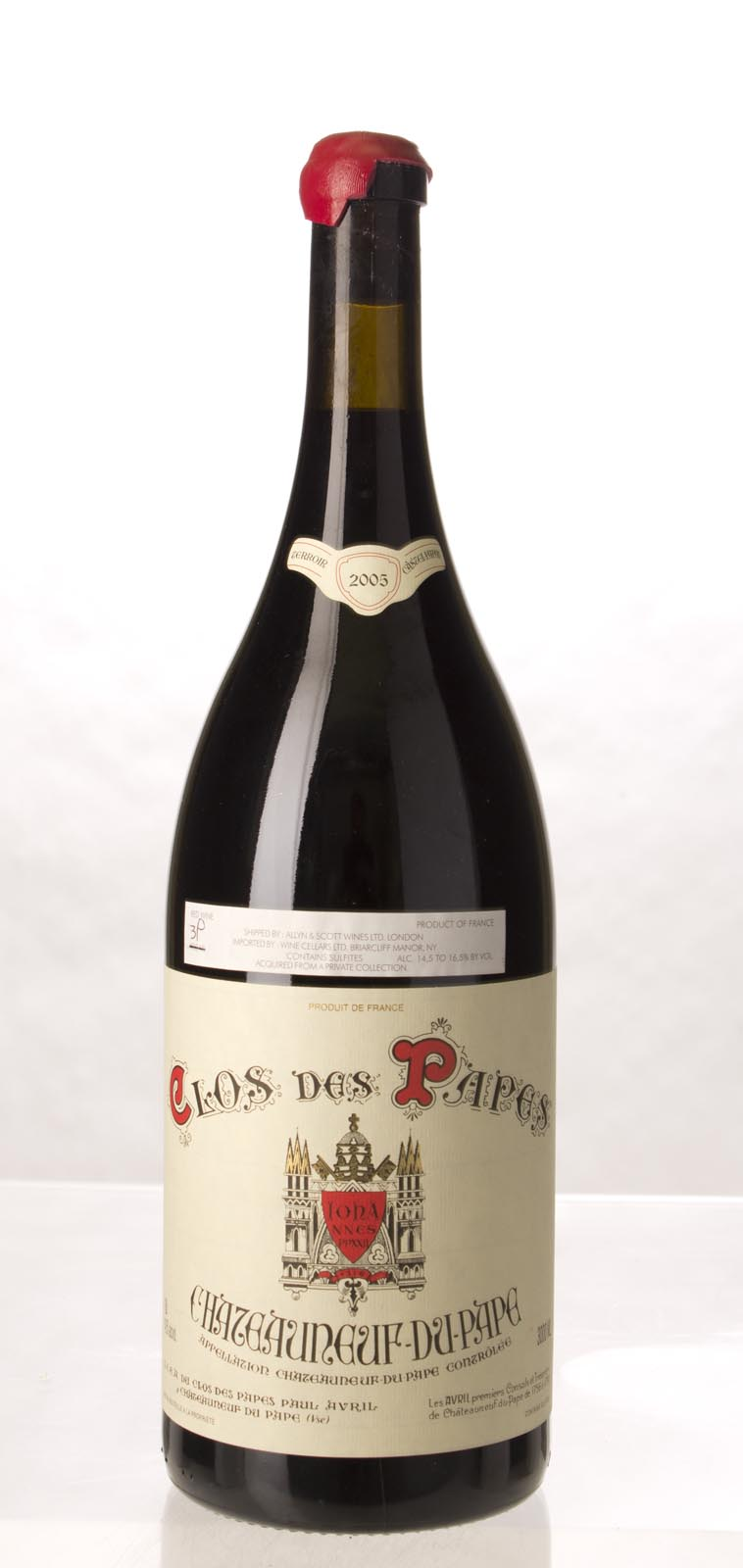 Clos des Papes Chateauneuf du Pape 2005, 3L (WS98) from The BPW - Merchants of rare and fine wines.
