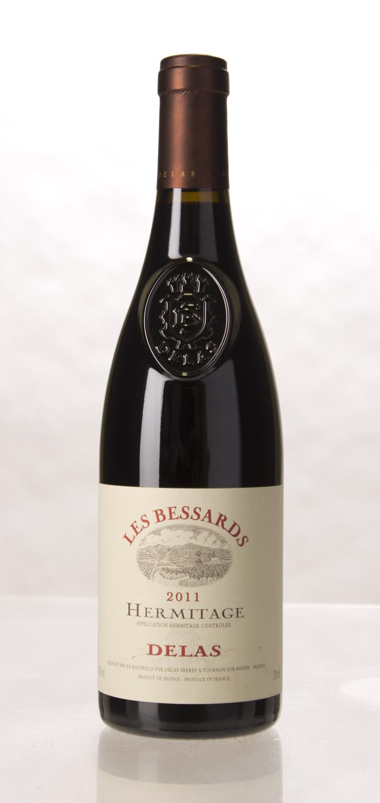 Delas Freres Hermitage les Bessards 2011, 750mL (WA99) from The BPW - Merchants of rare and fine wines.