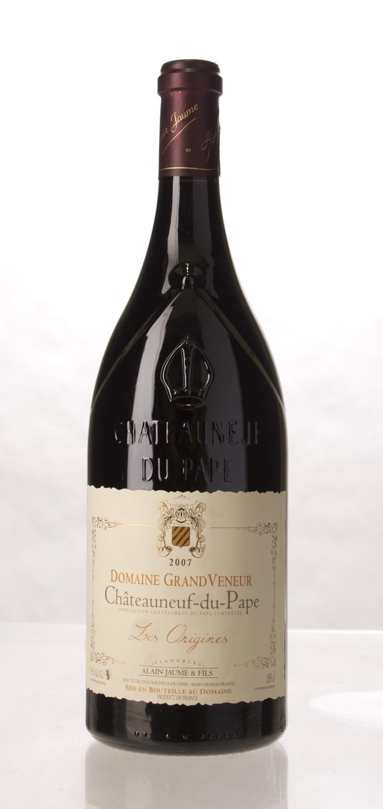 Domaine Grand Veneur Chateauneuf du Pape Cuvee les Origines 2007, 1.5L (WA95) from The BPW - Merchants of rare and fine wines.