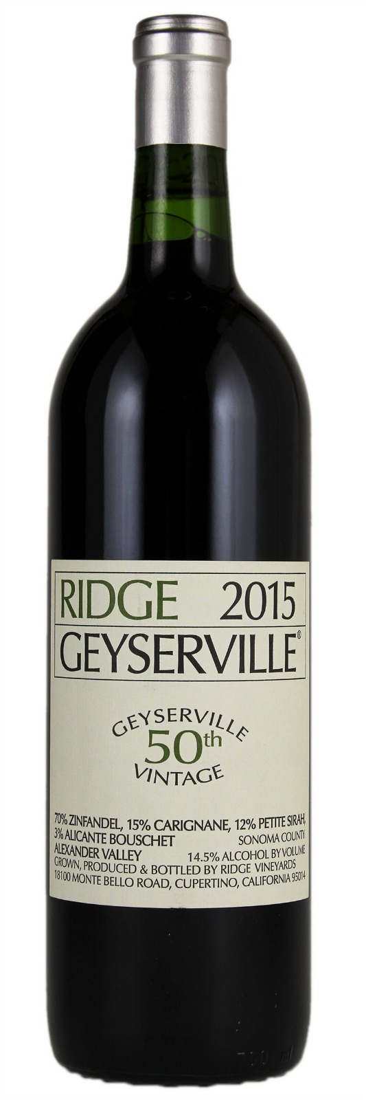 Ridge Proprietary Red Geyserville 2015, 1.5L () from The BPW - Merchants of rare and fine wines.