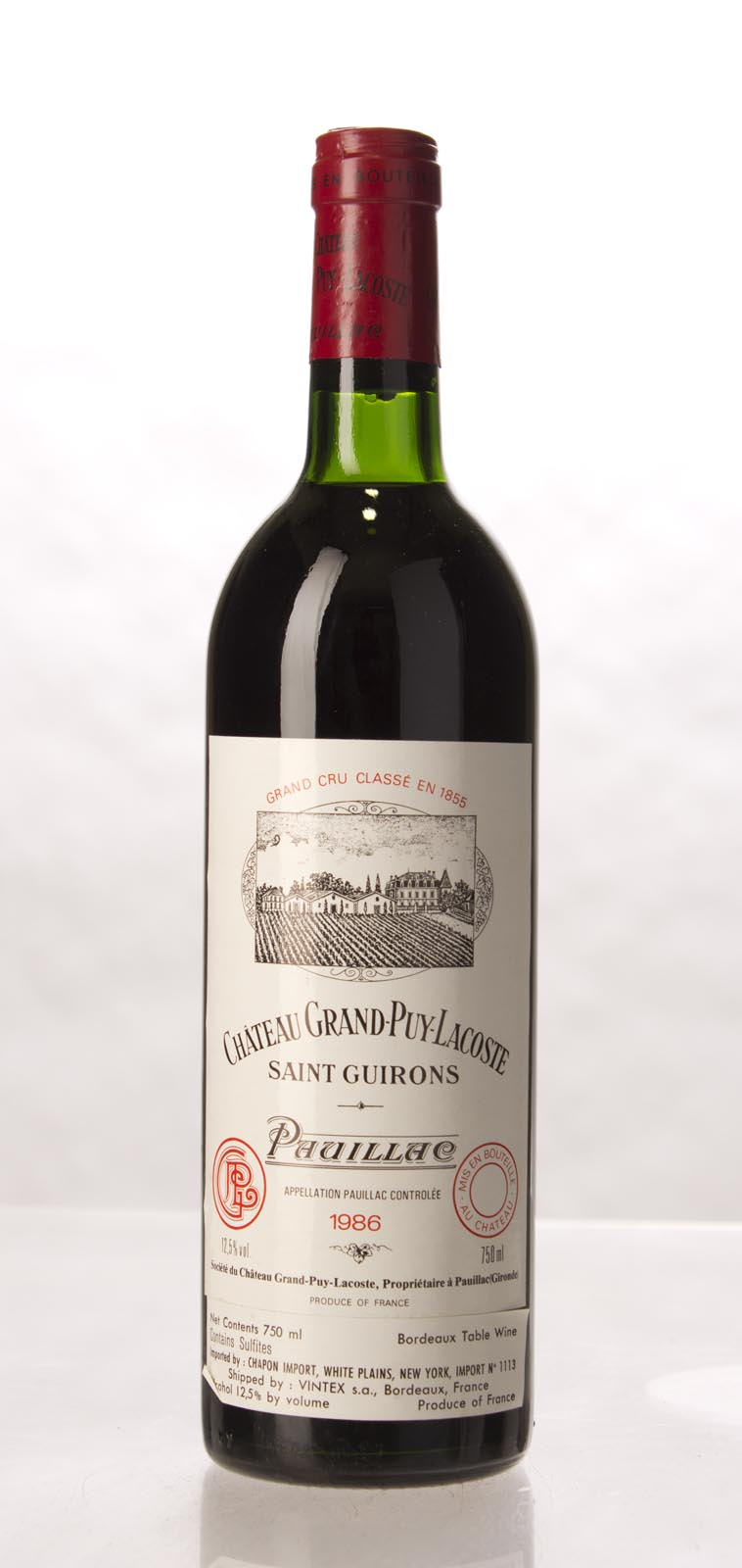 Grand Puy Lacoste 1986, 750mL (WA89) from The BPW - Merchants of rare and fine wines.