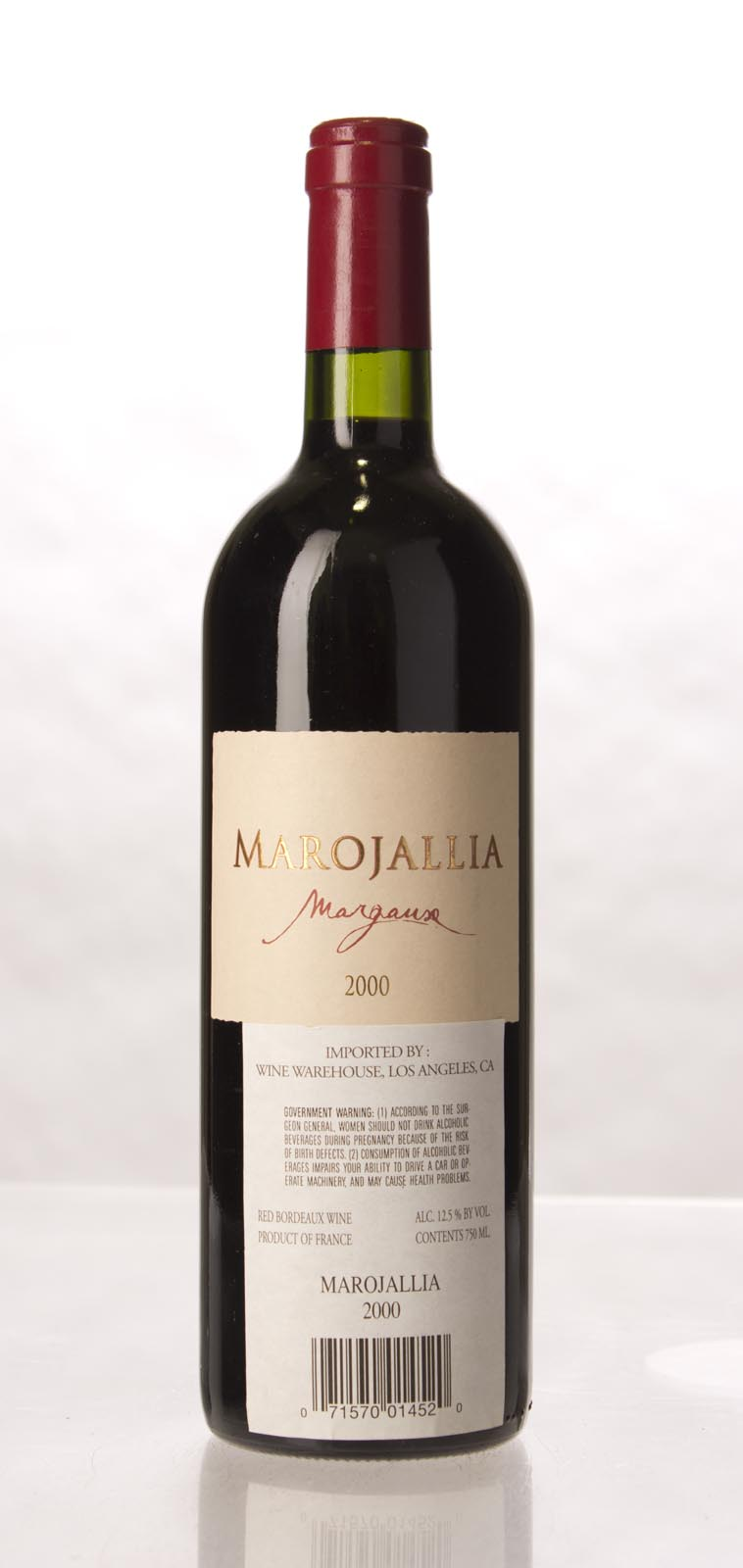 Marojallia 2000, 750mL (WA96) from The BPW - Merchants of rare and fine wines.