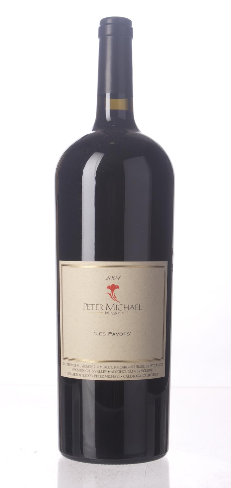 Peter Michael Winery Proprietary Red Les Pavots 2004, 1.5L (WA93, ST93, WS94) from The BPW - Merchants of rare and fine wines.