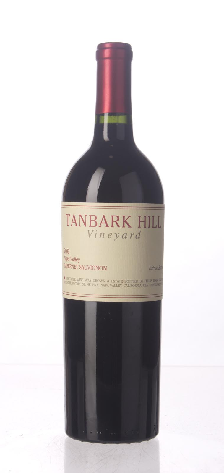 Philip Togni Cabernet Sauvignon Tanbark Hill 2002, 750mL (WS92) from The BPW - Merchants of rare and fine wines.