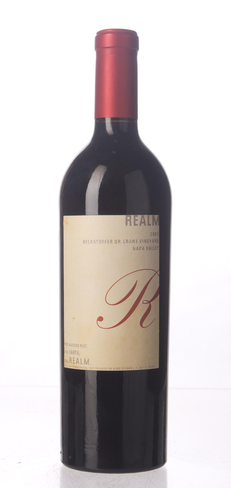 Realm Cabernet Sauvignon Beckstoffer Dr. Crane Vineyard 2005, 750mL (WA94, WS96) from The BPW - Merchants of rare and fine wines.