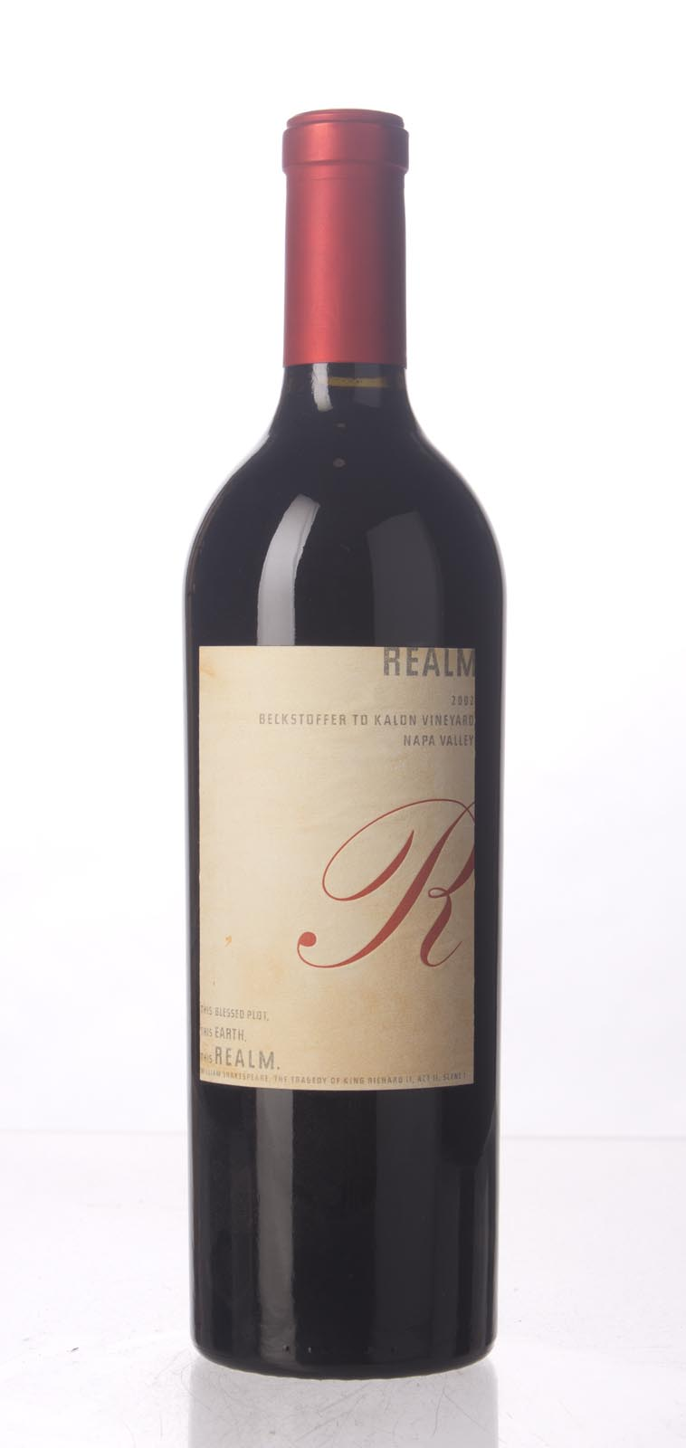 Realm Cabernet Sauvignon Beckstoffer To Kalon Vineyard 2002, 750mL (WA92, WS94) from The BPW - Merchants of rare and fine wines.