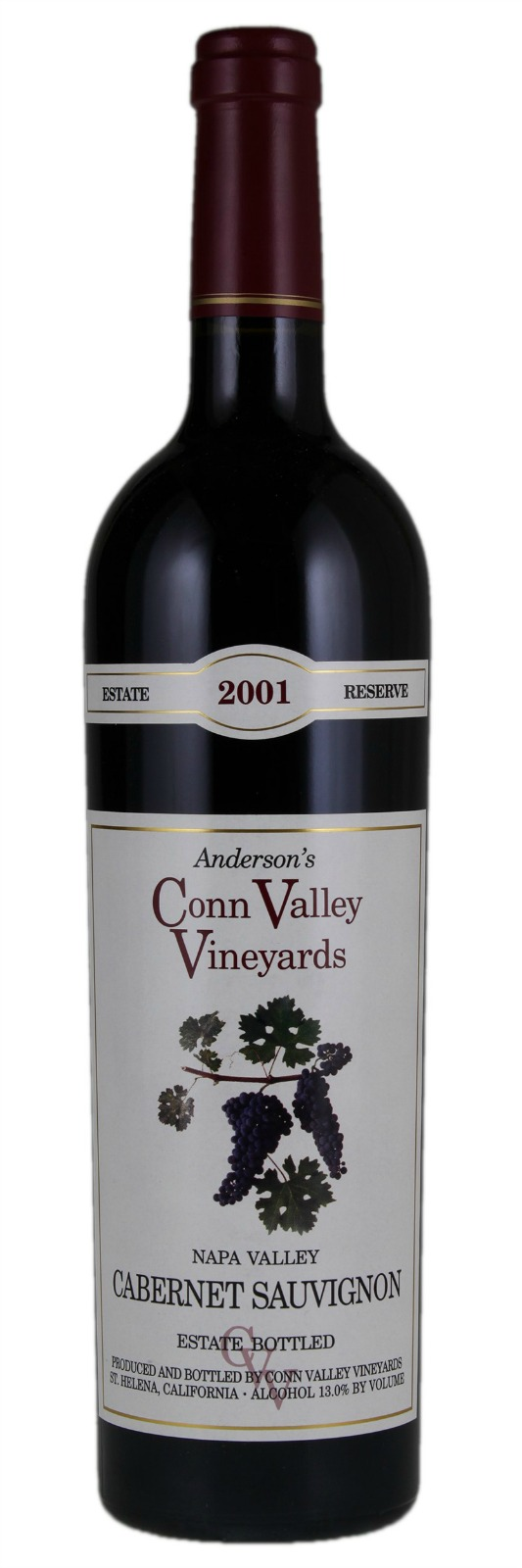 Anderson`s Conn Valley Cabernet Sauvignon Estate Reserve 2009, 1.5L (WA96+) from The BPW - Merchants of rare and fine wines.