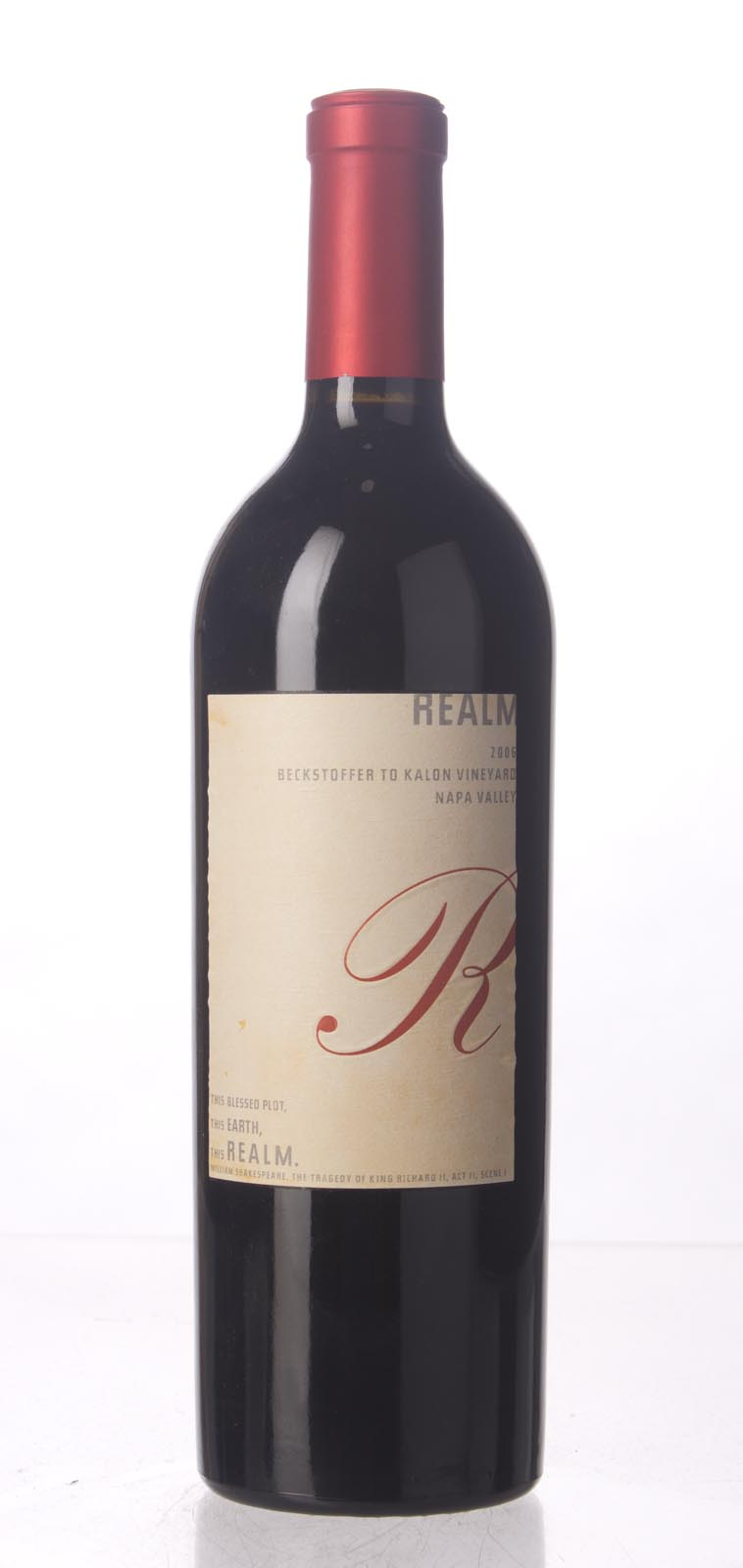 Realm Cabernet Sauvignon Beckstoffer To Kalon Vineyard 2006, 750mL (WA94, ST94, WS96) from The BPW - Merchants of rare and fine wines.