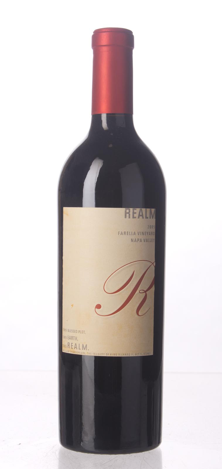 Realm Cabernet Sauvignon Farella Vineyard 2005, 750mL (WA92, ST92, WS91) from The BPW - Merchants of rare and fine wines.
