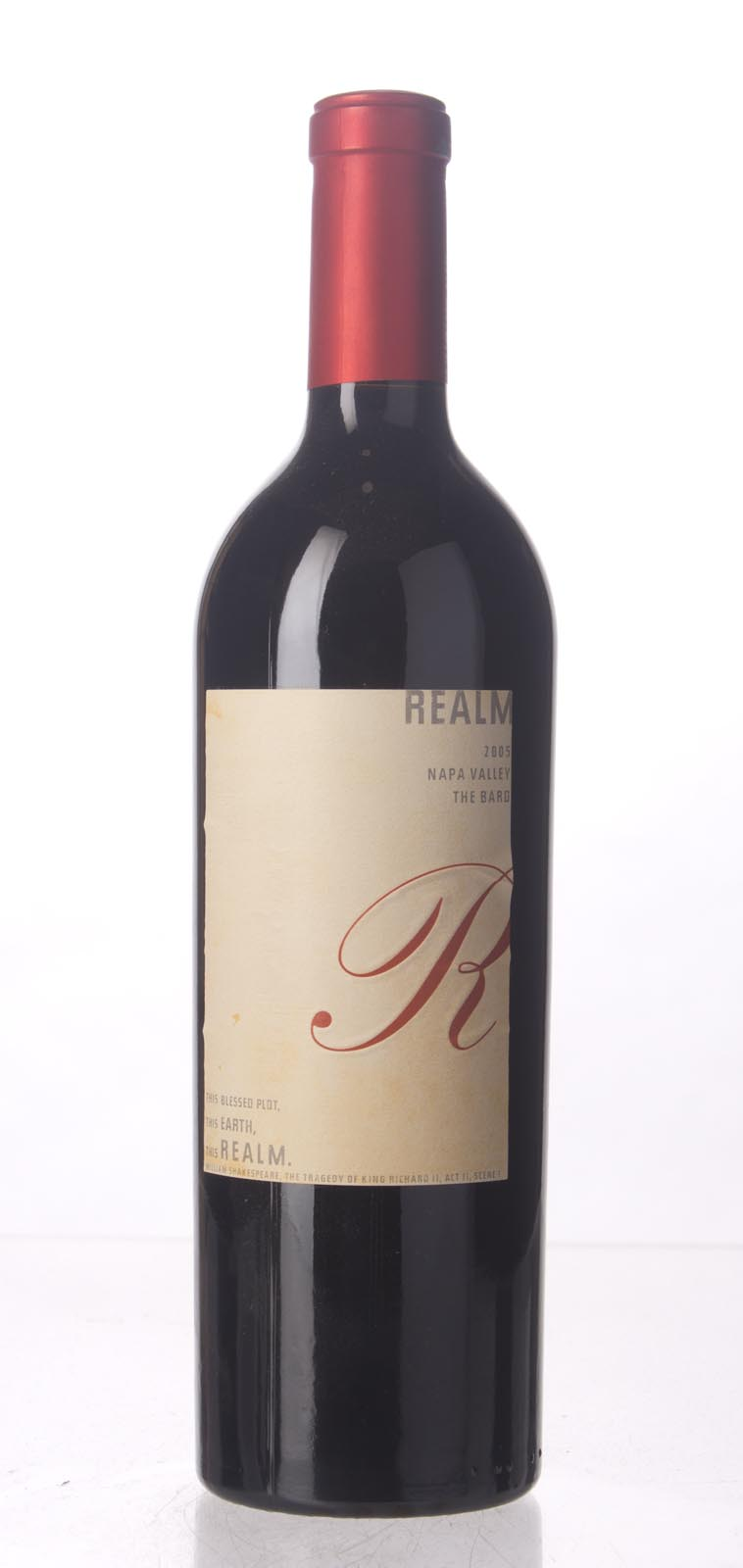 Realm Proprietary Red The Bard 2005, 750mL (WA93) from The BPW - Merchants of rare and fine wines.
