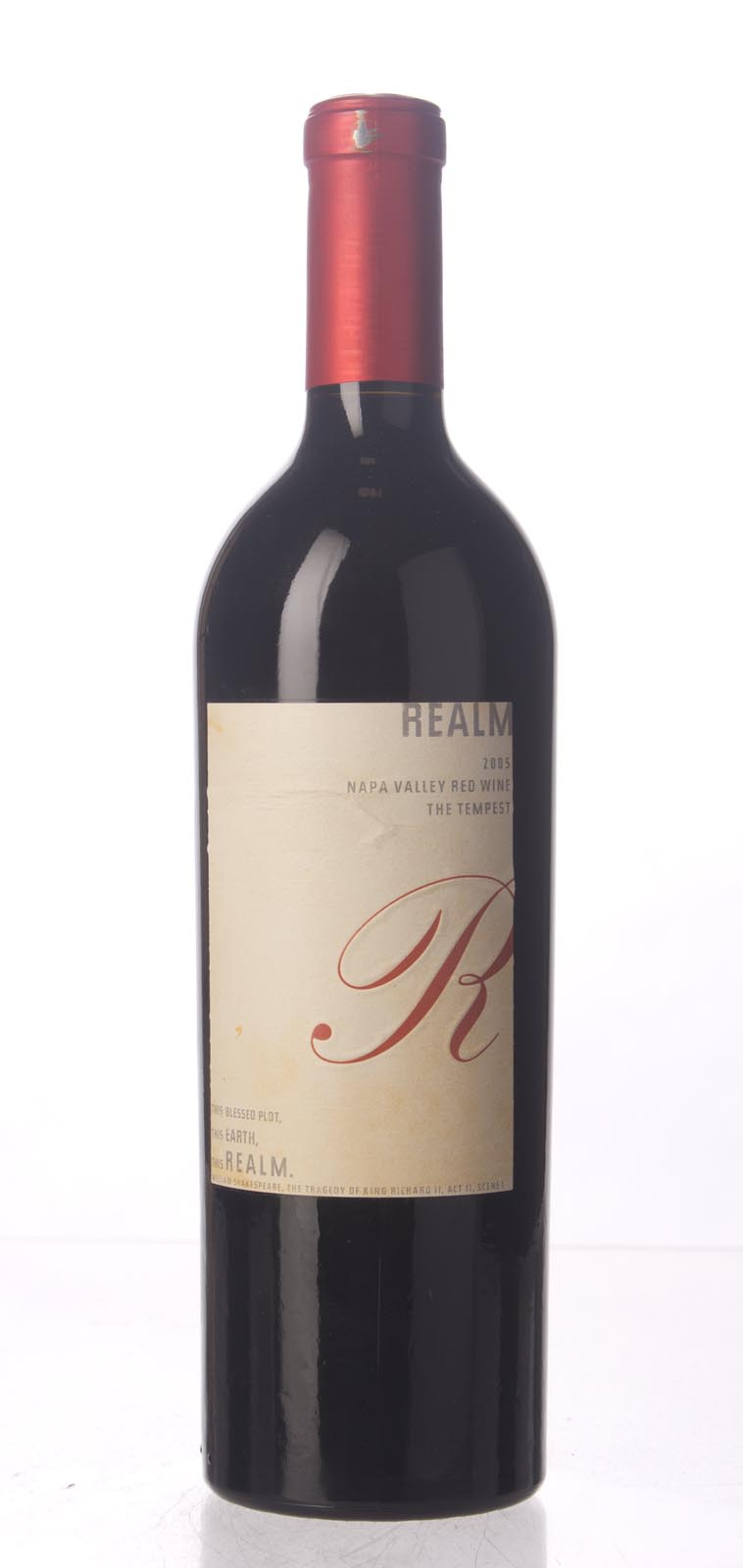 Realm Proprietary Red The Tempest 2005, 750mL (WA94) from The BPW - Merchants of rare and fine wines.