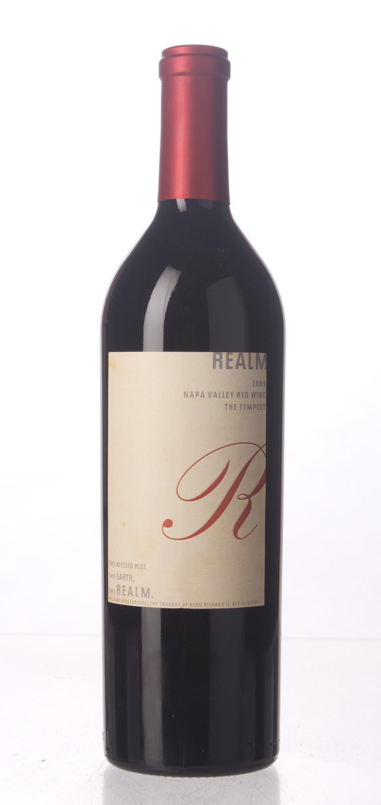 Realm Proprietary Red The Tempest 2009, 750mL (WA92, ST92, WS94) from The BPW - Merchants of rare and fine wines.