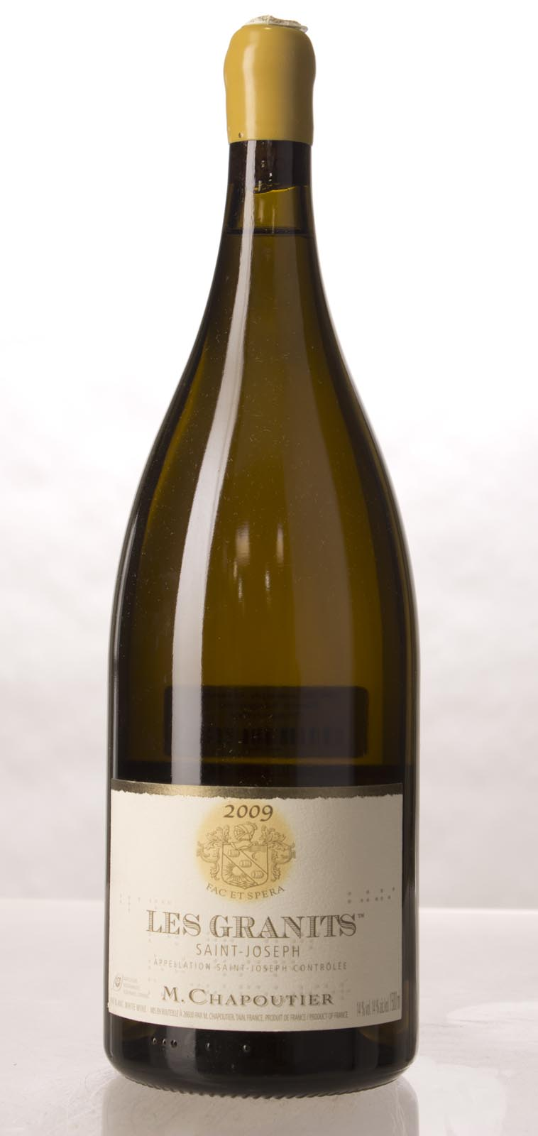 Chapoutier St. Joseph les Granits Blanc 2009, 1.5L (WA98, WS96) from The BPW - Merchants of rare and fine wines.