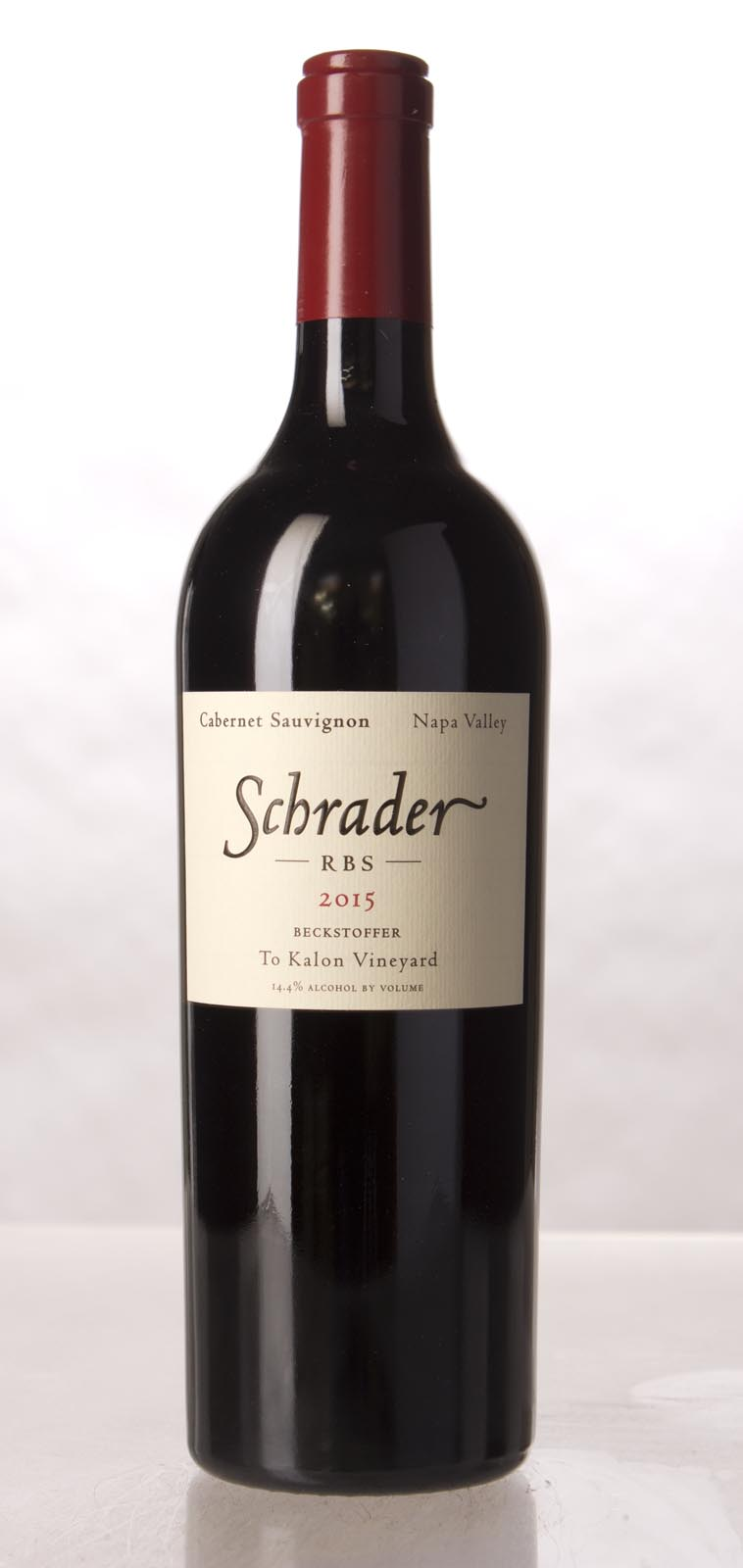 Schrader Cellars Cabernet Sauvignon Beckstoffer To Kalon Vineyard RBS 2015, 750mL (WA95-97) from The BPW - Merchants of rare and fine wines.