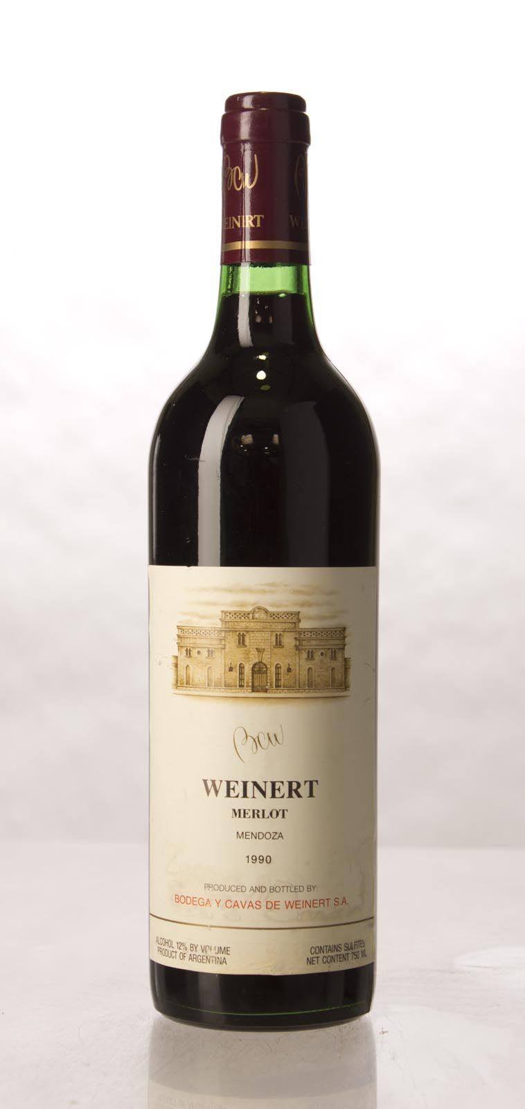 Bodega Weinert Merlot 1990,  (WA88) from The BPW - Merchants of rare and fine wines.