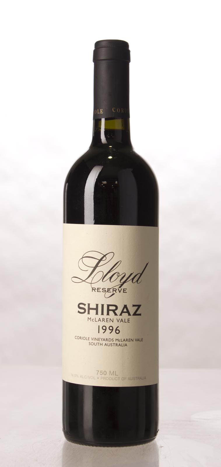 Coriole Shiraz Lloyd Reserve 1996, 750mL (WA94) from The BPW - Merchants of rare and fine wines.