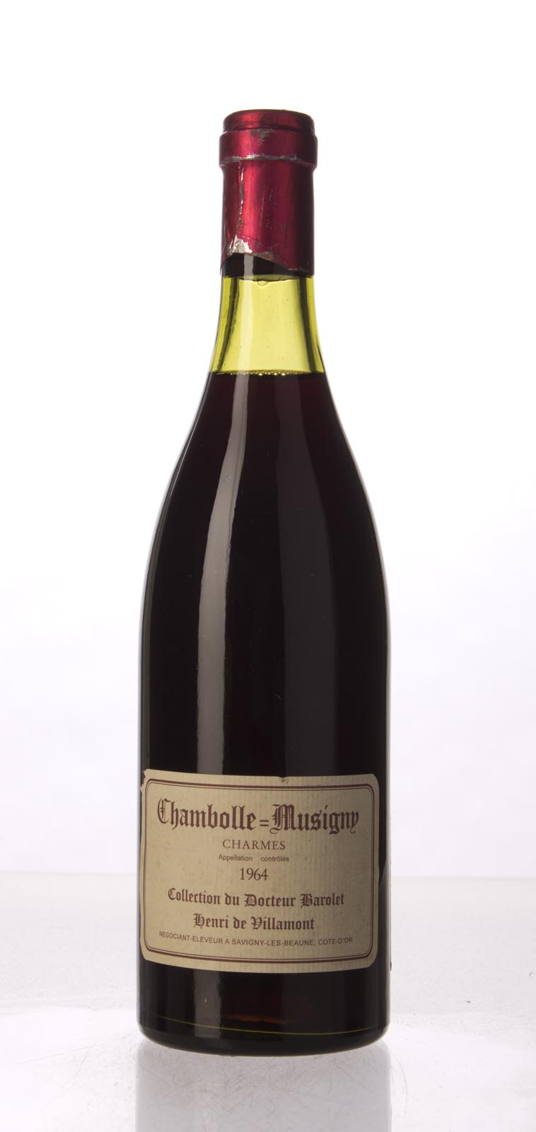 Henri de Villamont Chambolle Musigny les Charmes Dr. Barolet 1964,  () from The BPW - Merchants of rare and fine wines.