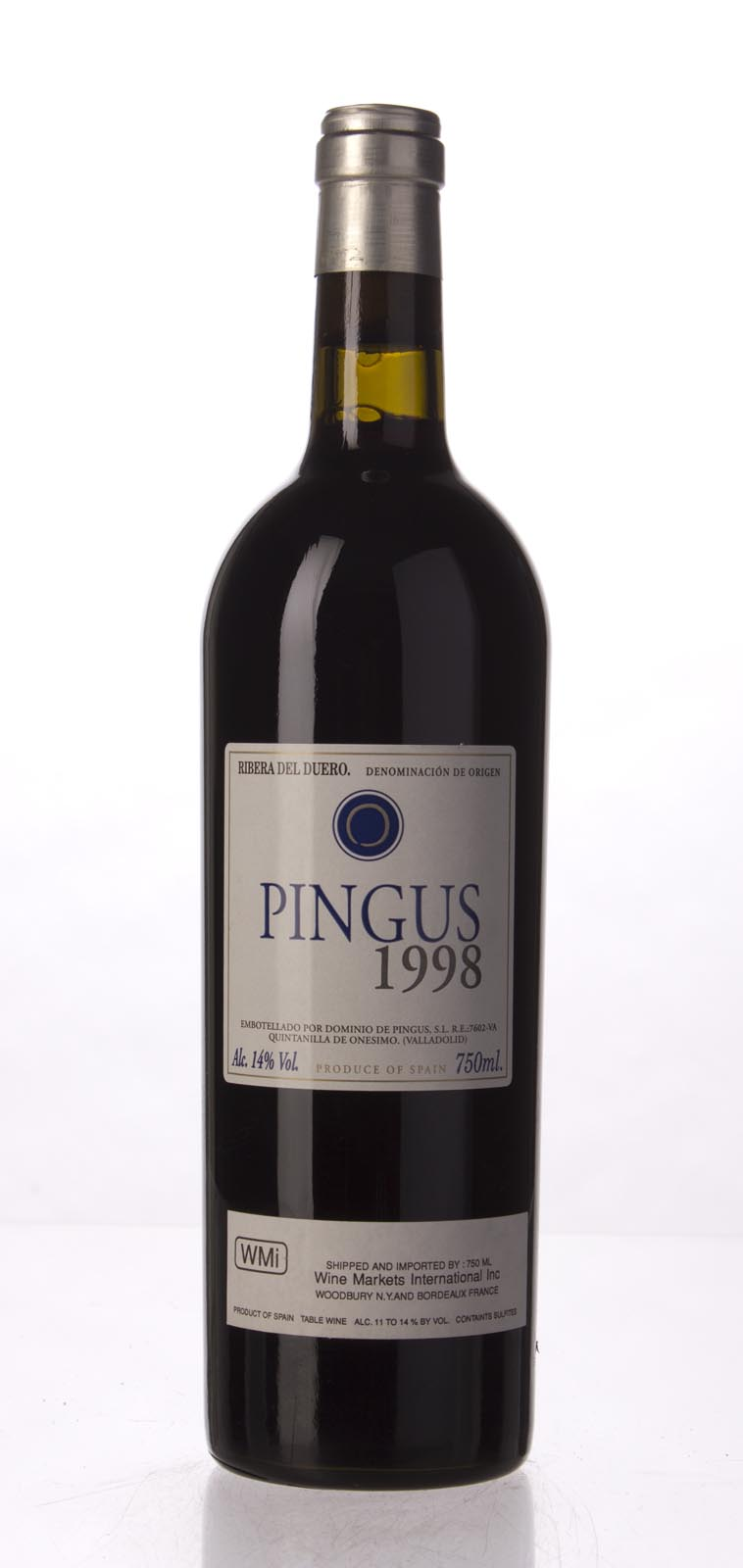 Dominio de Pingus `Pingus` 1998,  (ST93-95, WS91) from The BPW - Merchants of rare and fine wines.