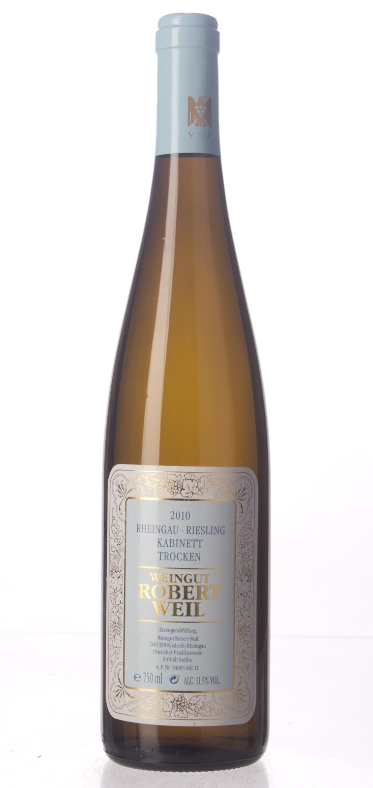 Robert Weil Riesling Kabinett Trocken 2010, 750mL () from The BPW - Merchants of rare and fine wines.