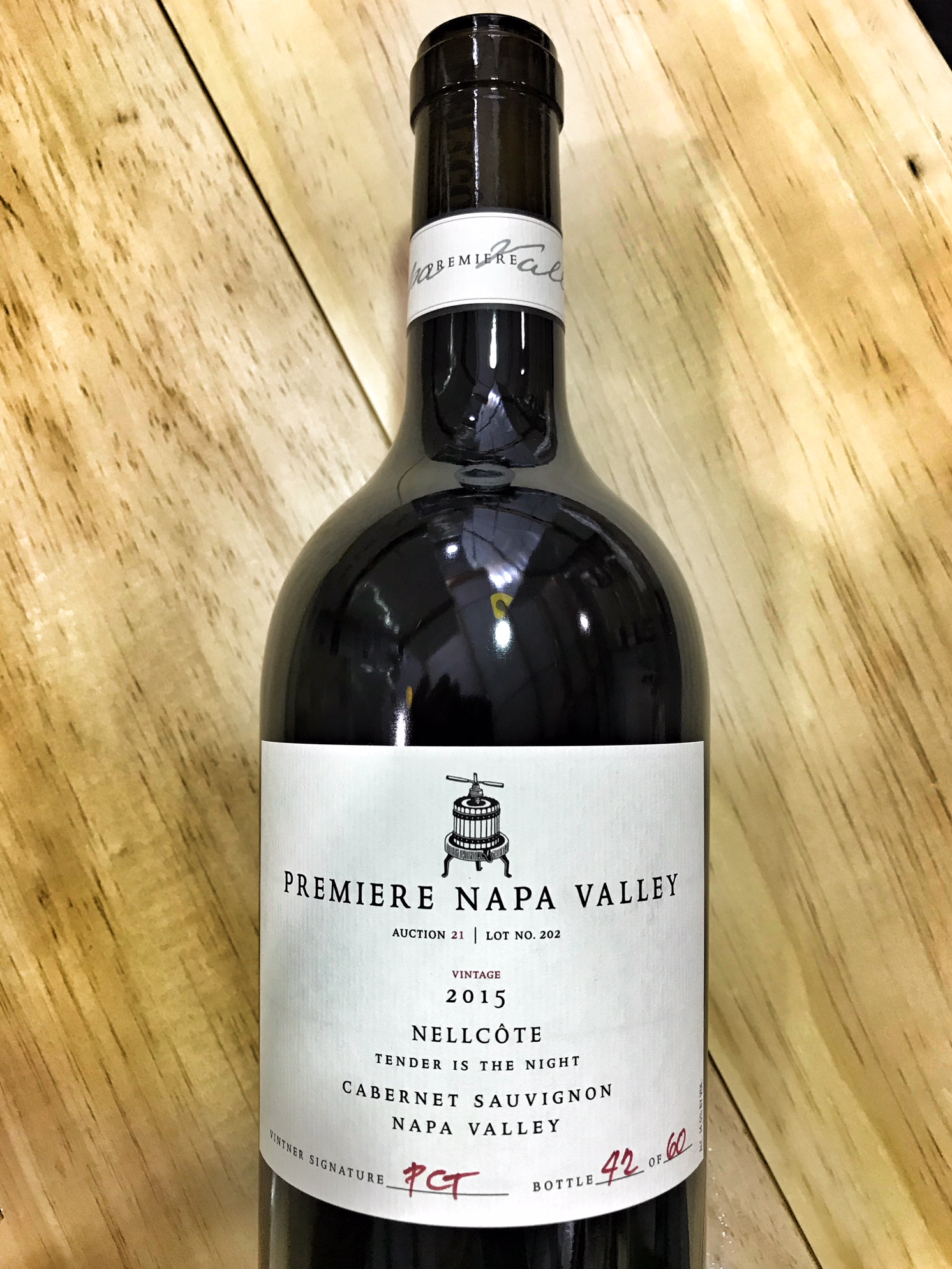 Nellcote Cabernet Sauvignon Tender is the Night NVP 2015,  () from The BPW - Merchants of rare and fine wines.