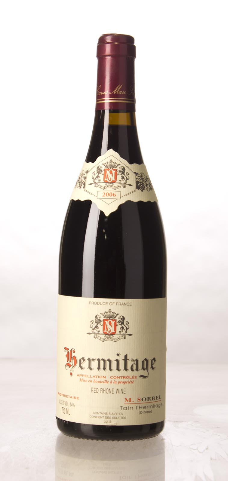 M. Sorrel Hermitage 2006, 750mL (WA90, ST92) from The BPW - Merchants of rare and fine wines.