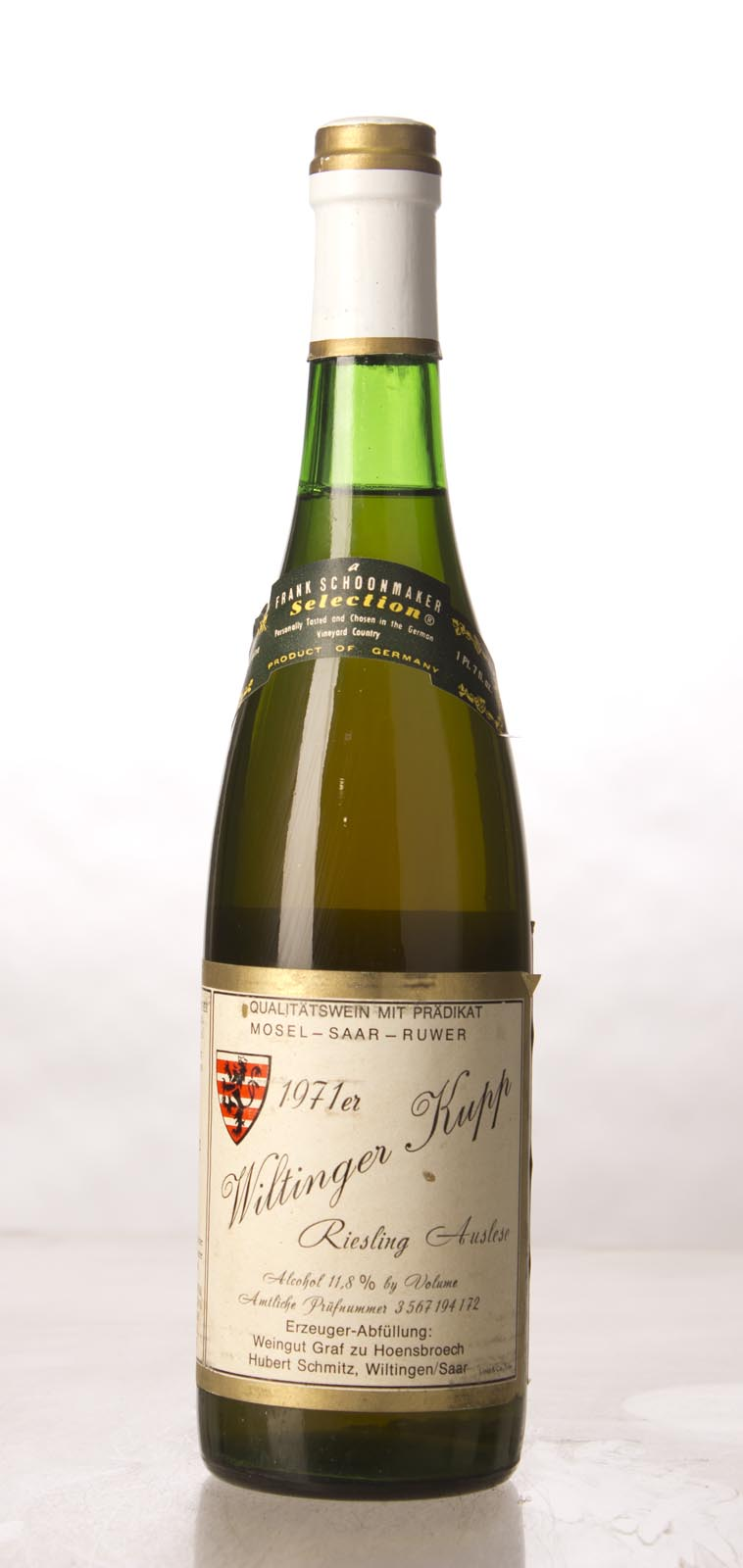 Hubert Schmitz Wiltinger Kupp Riesling Auslese 1971, 750mL () from The BPW - Merchants of rare and fine wines.