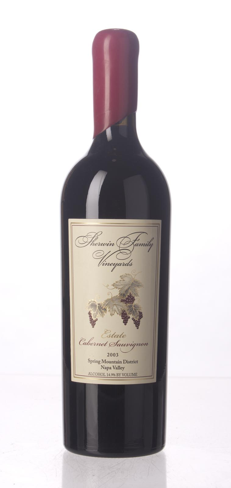 Sherwin Family Cabernet Sauvignon Spring Mountain 2003, 750mL (WS92) from The BPW - Merchants of rare and fine wines.