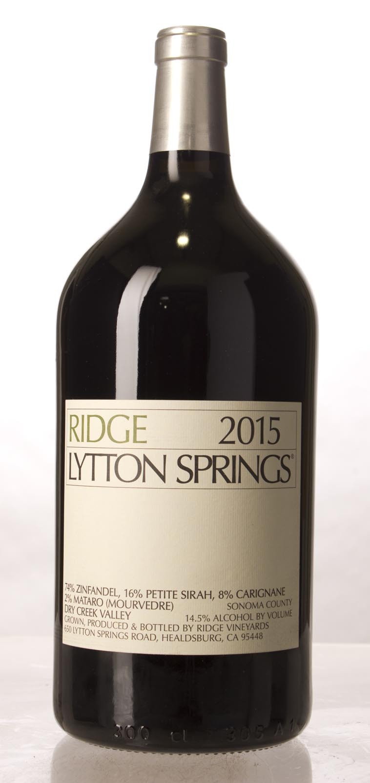 Ridge Proprietary Red Lytton Springs 2015, 3L () from The BPW - Merchants of rare and fine wines.