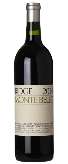 Ridge Monte Bello 2014,  (VN96) from The BPW - Merchants of rare and fine wines.