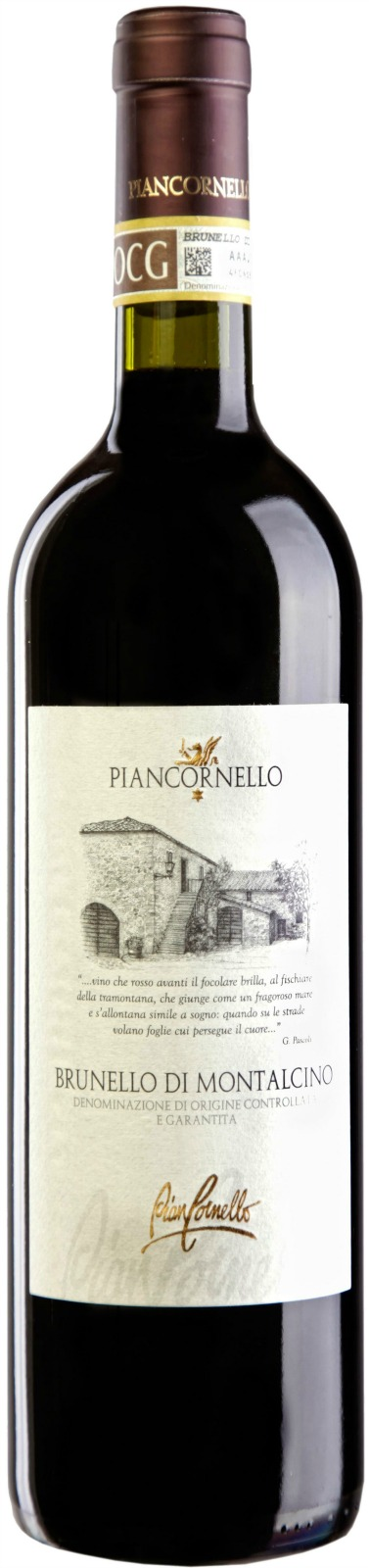Piancornello Brunello di Montalcino 2013, 750ml (VN96, WA93) from The BPW - Merchants of rare and fine wines.
