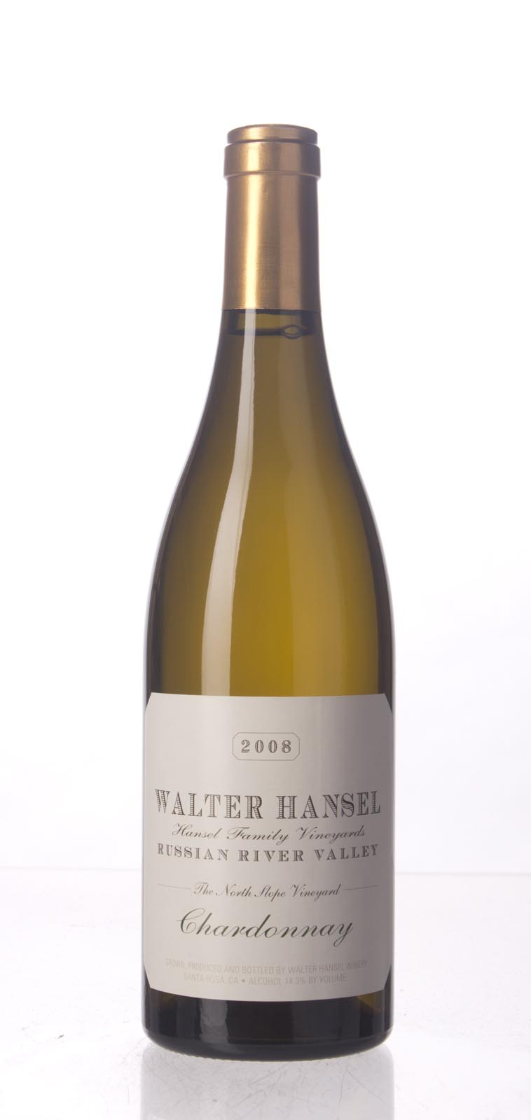 Walter Hansel Winery Chardonnay The North Slope 2008, 750mL (WA95) from The BPW - Merchants of rare and fine wines.
