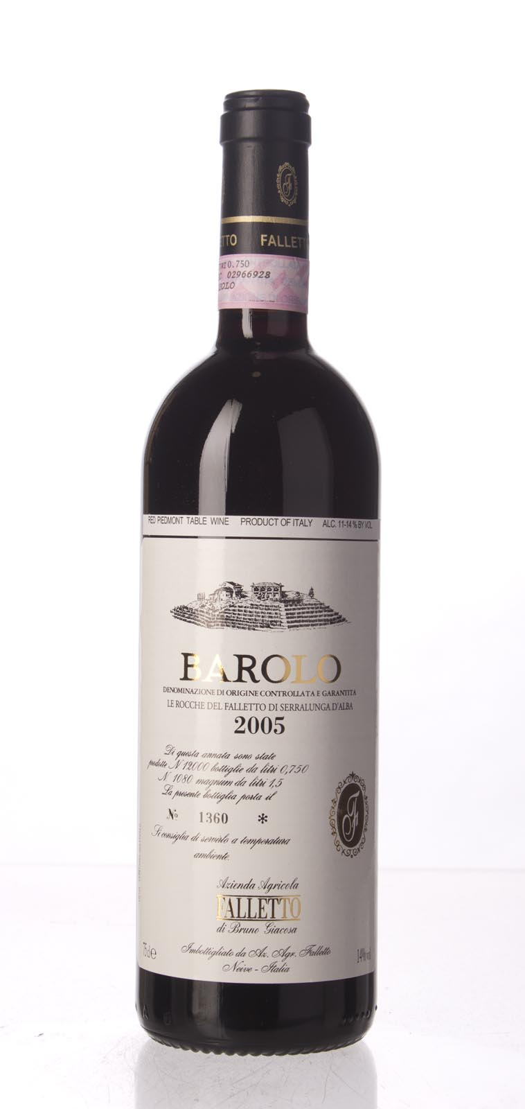Bruno Giacosa Barolo Rocche del Falletto 2005, 750mL (WA96+, ST95+, WS95) from The BPW - Merchants of rare and fine wines.