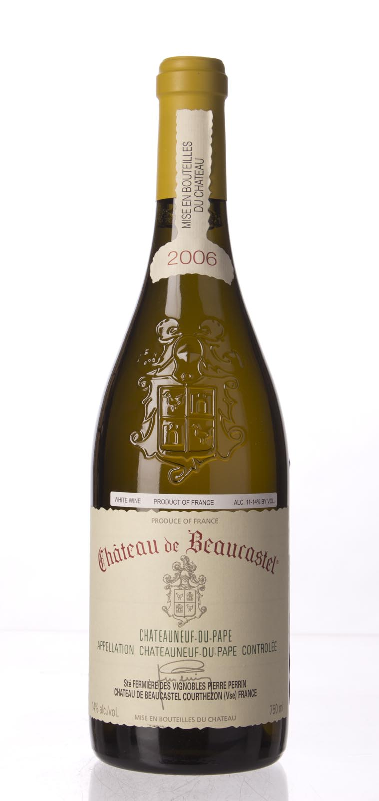 Chateau Beaucastel Chateauneuf du Pape Blanc 2006, 750mL (WA94, WS94) from The BPW - Merchants of rare and fine wines.