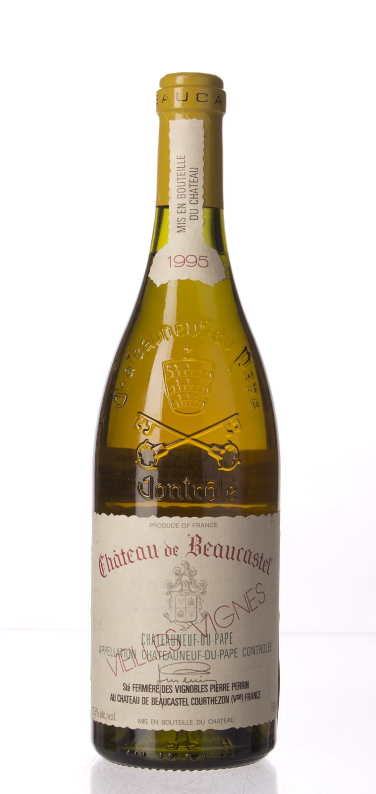 Chateau Beaucastel Chateauneuf du Pape Roussanne Vieilles Vignes 1995, 750mL (WA96, WS95) from The BPW - Merchants of rare and fine wines.