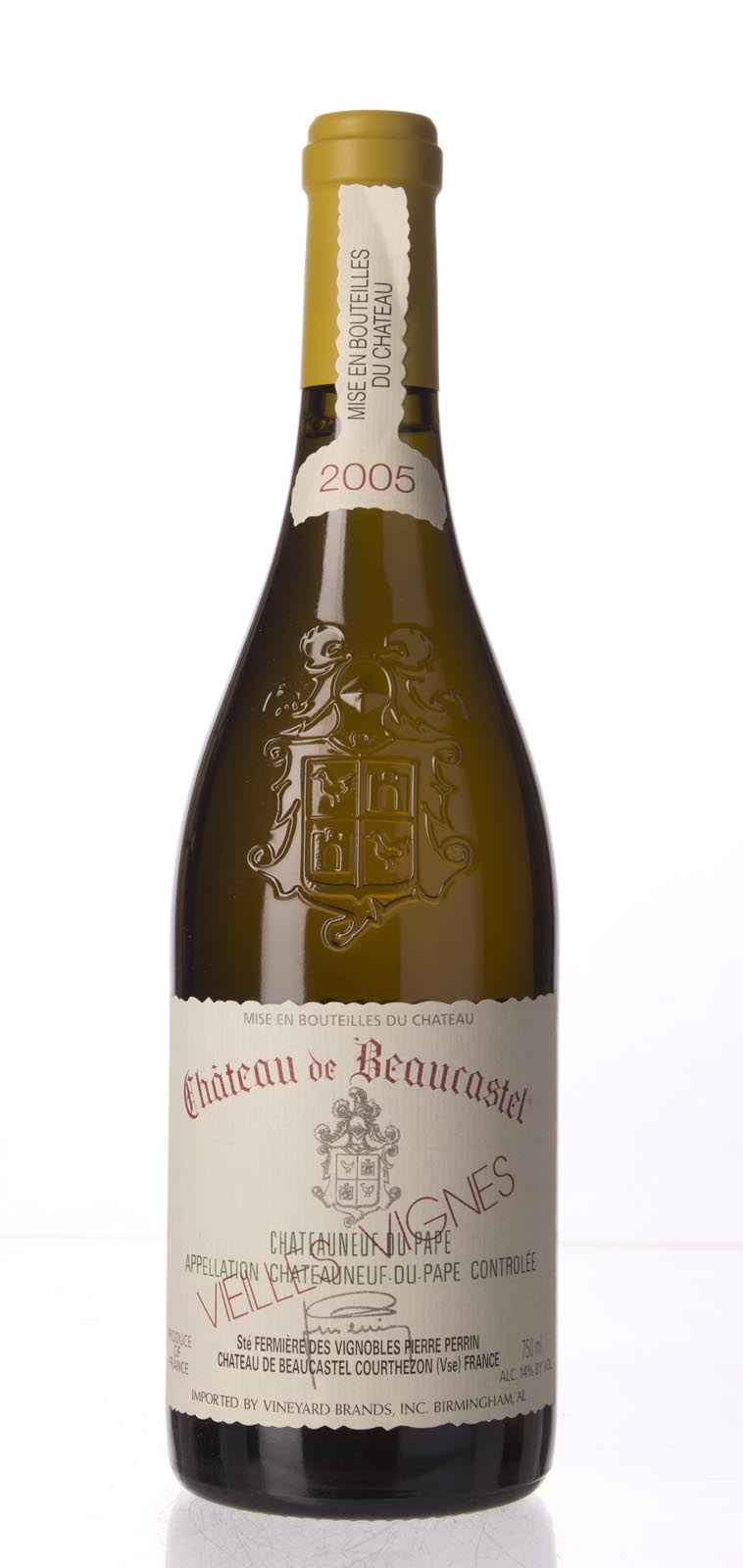 Chateau Beaucastel Chateauneuf du Pape Roussanne Vieilles Vignes 2005,  (WA96, ST95) from The BPW - Merchants of rare and fine wines.