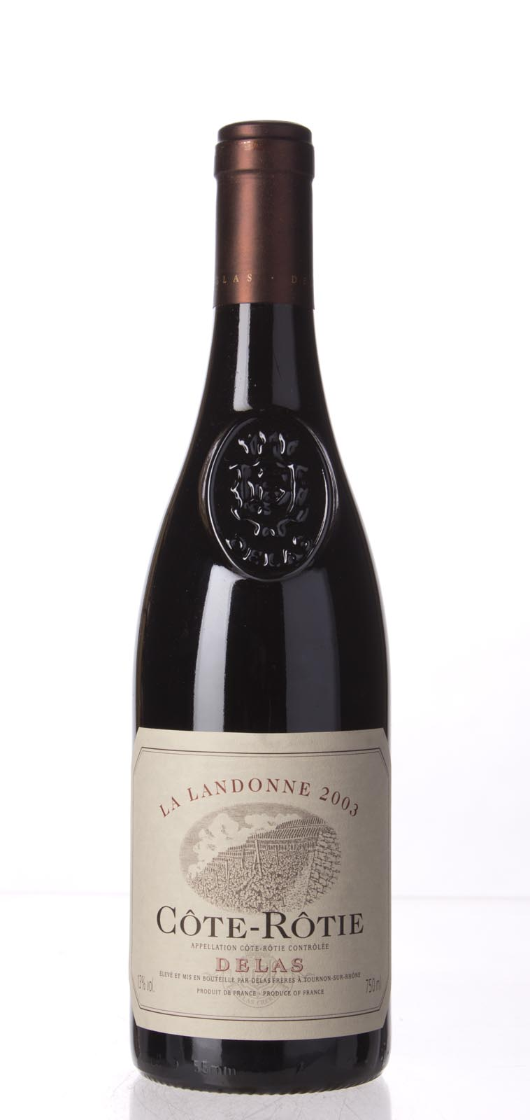 Delas Freres Cote Rotie la Landonne 2003, 750mL (WA96, WS96) from The BPW - Merchants of rare and fine wines.