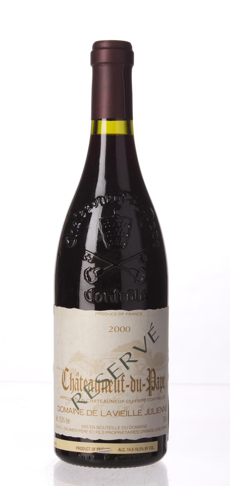 Domaine de la Vieille Julienne Chateauneuf du Pape Cuvee Reservee 2000, 750mL (WA99) from The BPW - Merchants of rare and fine wines.