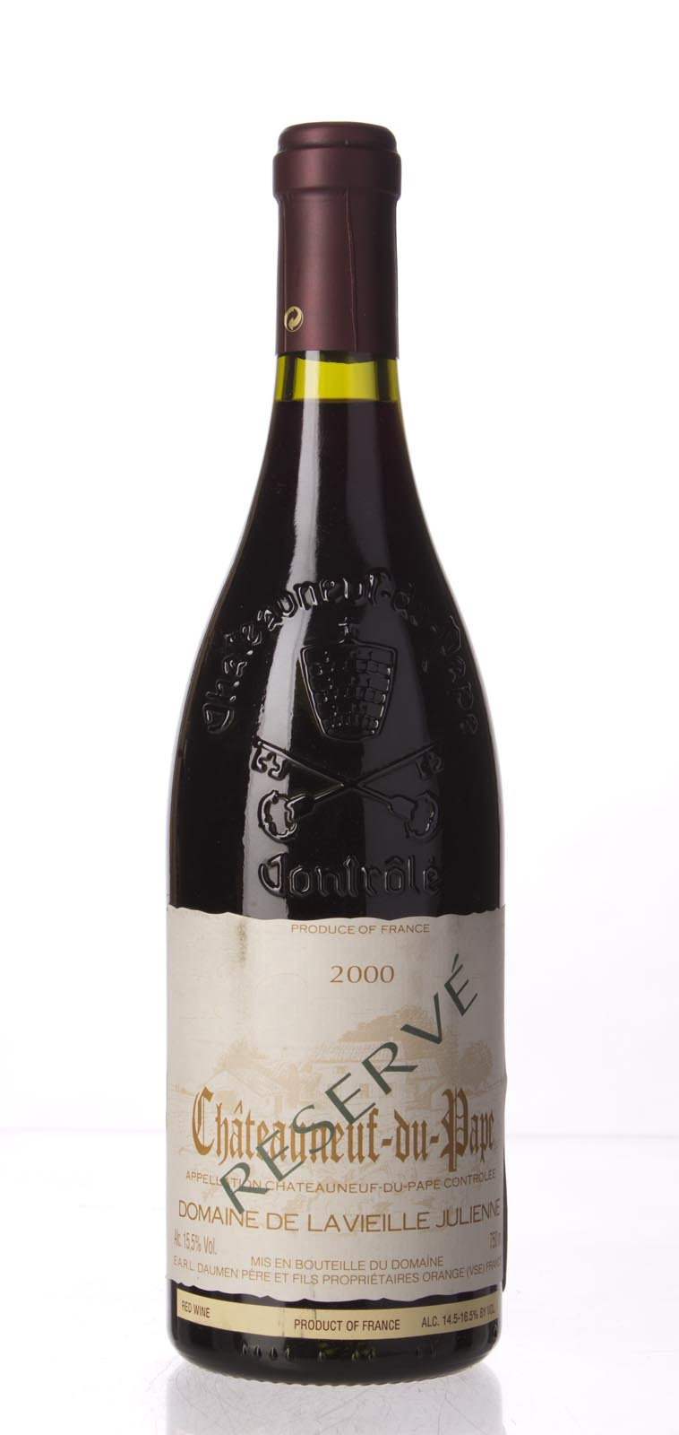 Domaine de la Vieille Julienne Chateauneuf du Pape Cuvee Reservee 2000,  (WA99) from The BPW - Merchants of rare and fine wines.