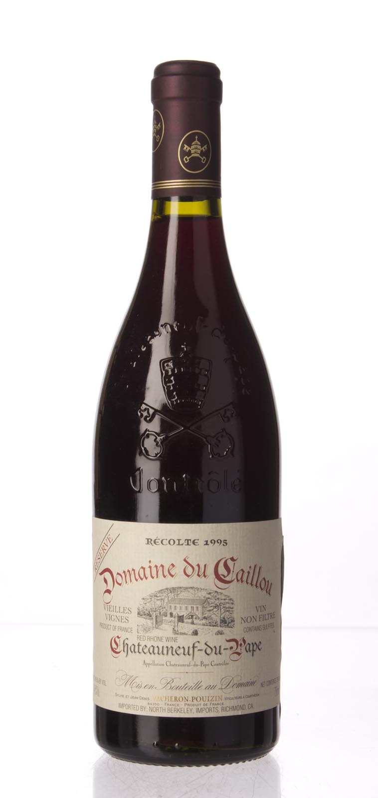 Domaine Du Clos Du Caillou Chateauneuf du Pape Vieilles Vignes Cuvee Unique Reserve 1995, 750mL () from The BPW - Merchants of rare and fine wines.